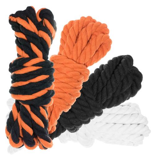 """1/2"""" Twisted Cotton Rope 100' Kit - Jack O'Lantern"""