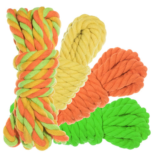 "1/2"" Twisted Cotton Rope 100' Kit - Sour Patch"