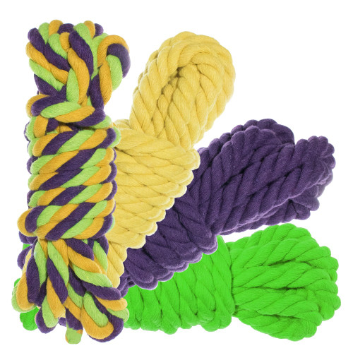"""1/2"""" Twisted Cotton Rope 100' Kit - Tootie Fruity"""