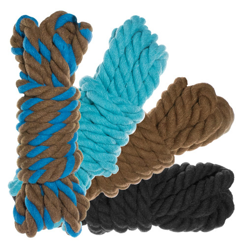"""1/2"""" Twisted Cotton Rope 40' Kit - Cookie Monster"""