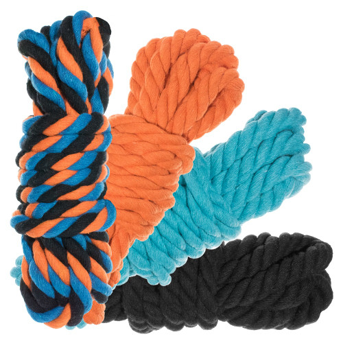 "1/2"" Twisted Cotton Rope 40' Kit - Twisted"