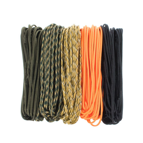 850 Paracord Adventure Kit 100' Sample Pack - Tactical