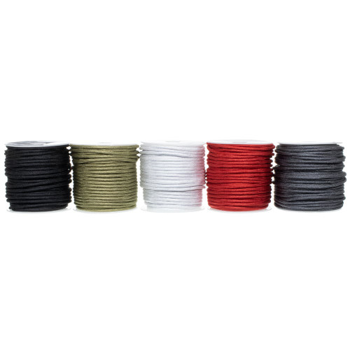 550 Polyester Paracord Box Set – 5 x 100 ft Spools - Iron