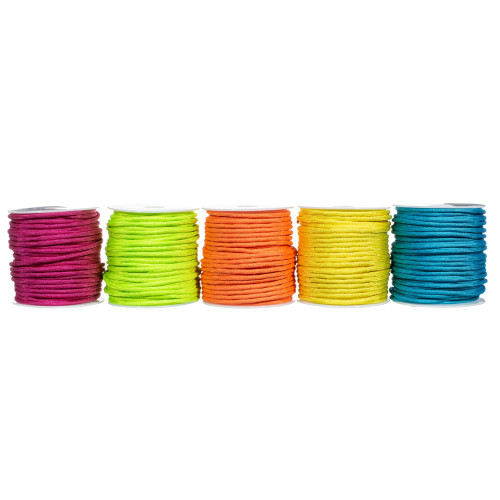 550 Polyester Paracord Box Set – 5 x 100 ft Spools - Neon