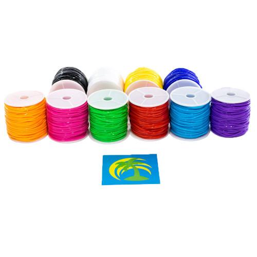 Plastic Lace Set - 10 Colors - 10 Spools - Primary