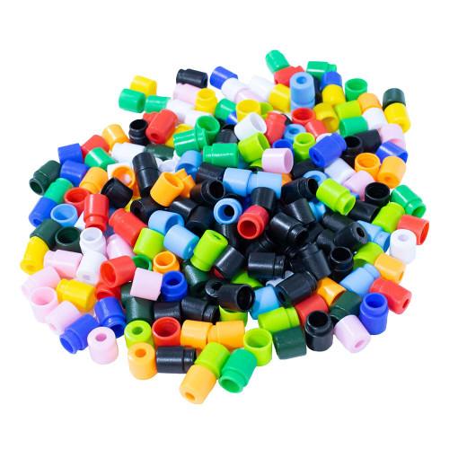 100PK of POP Barrel Connectors - 50 Mix Colors - 50 Black