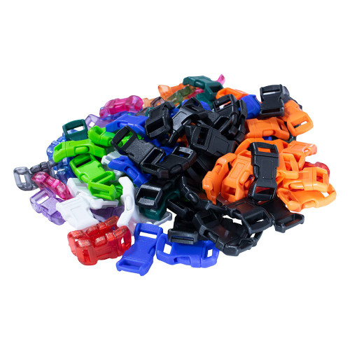 """3/8"""" Side Release Contoured Plastic Buckles - Large Pack Sizes"""