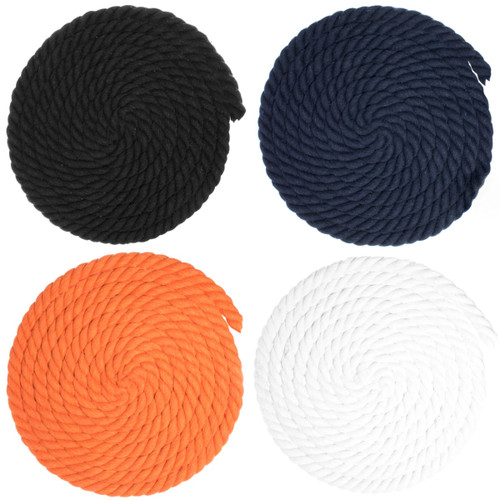 5/8 inch Twisted Cotton Rope - Multiple Colors