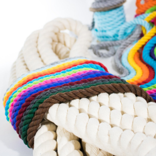 1/2 inch Twisted Cotton Rope - Multiple Colors