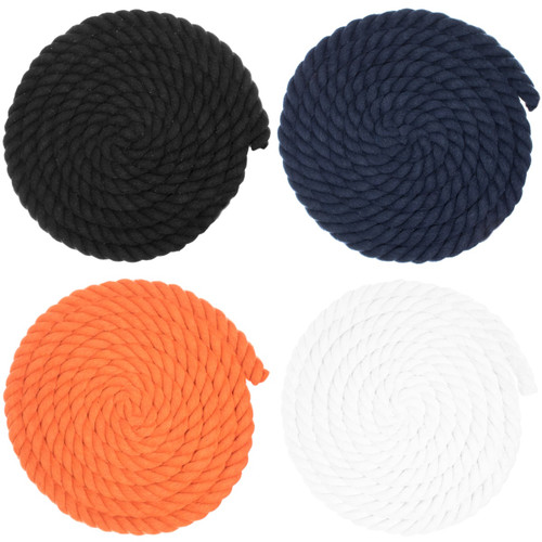 3/4 inch Twisted Cotton Rope - Multiple Colors
