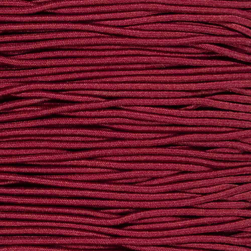 Burgundy - 1/16 inch Elastic Cord
