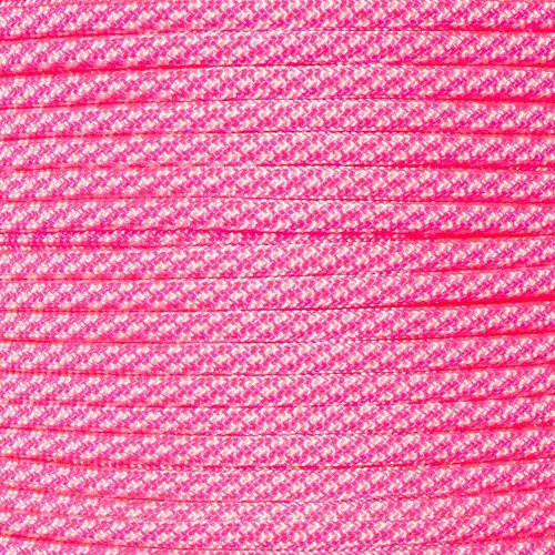 Neon Pink Candy Cane - 550 Paracord - 100 Feet