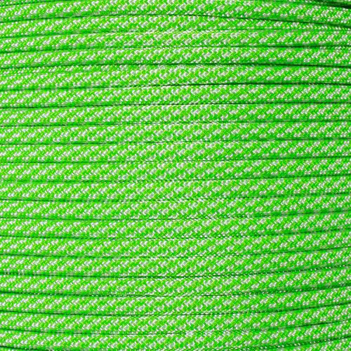 Neon Green Candy Cane - 550 Paracord - 100 Feet