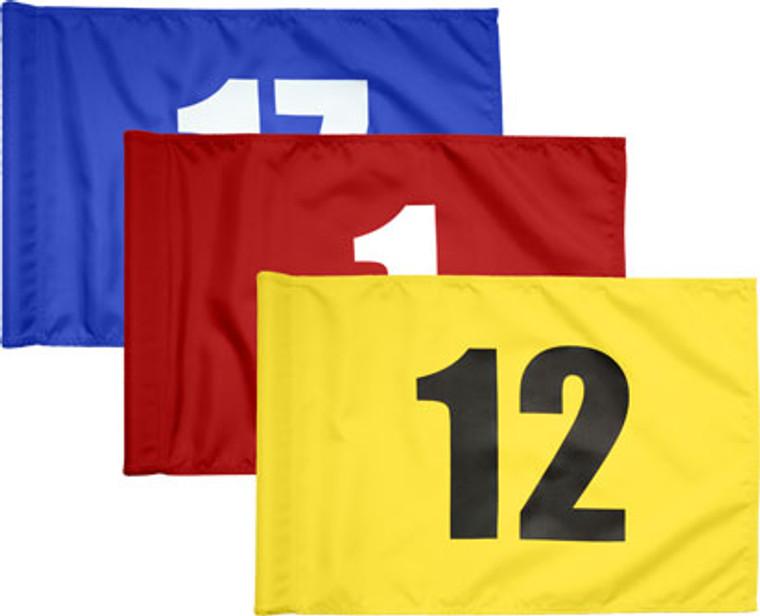 Numbered Nylon Golf Flag Set of 9 Pcs