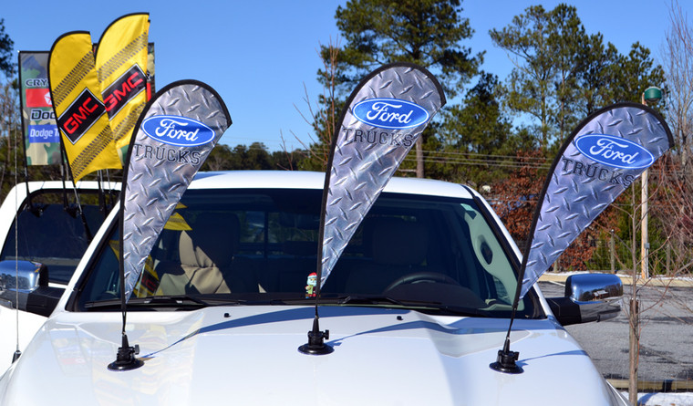 SUCTION CUP FLAG