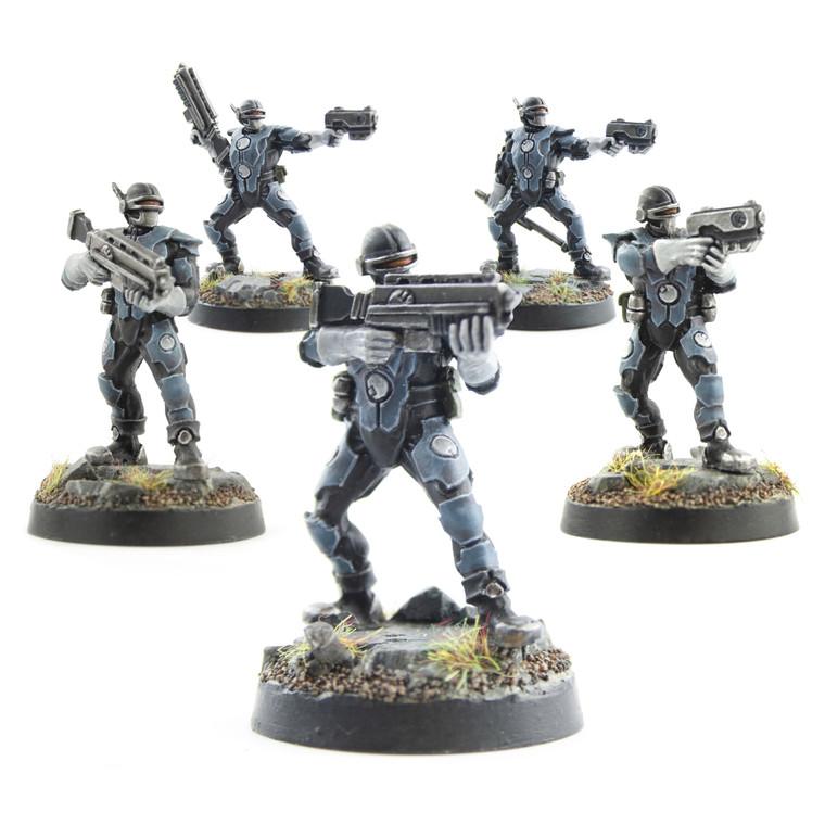 Sci-Fi Miniature Enforcers - Full Set of 5 Enforcers
