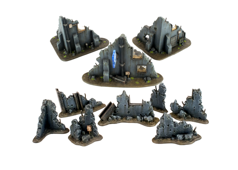 War-Torn City Rubble and Building Set