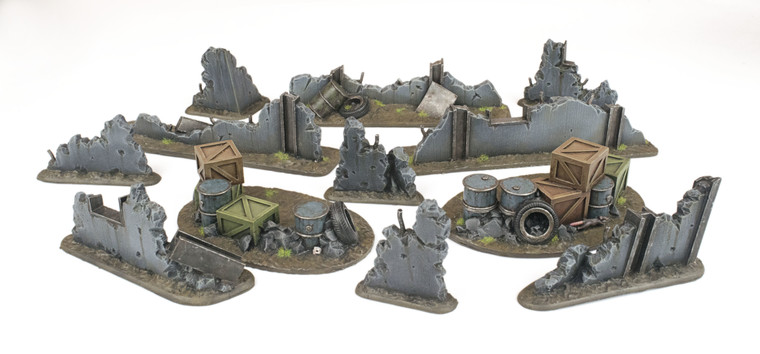 War-Torn City Rubble and Barricade Kit