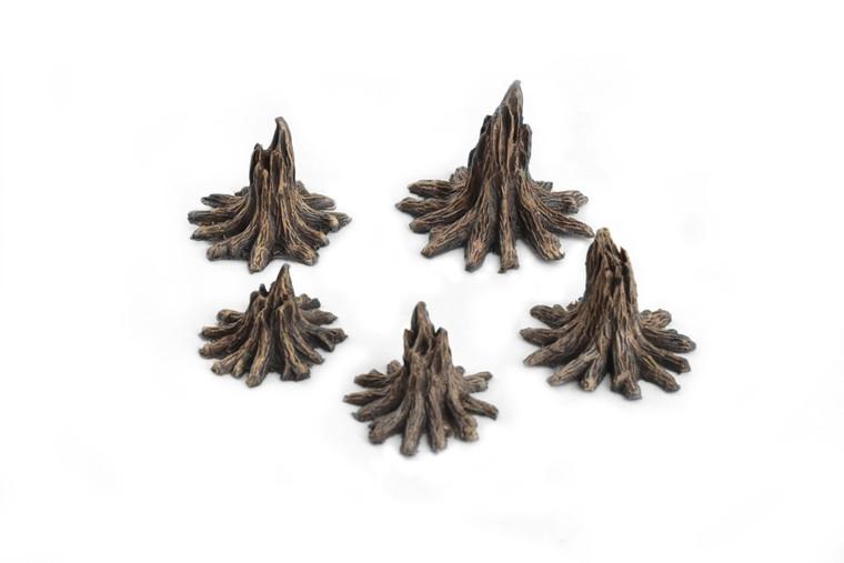 World at War Blasted Tree Stumps x 5