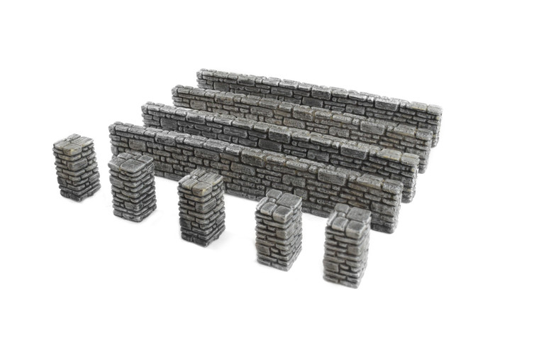 World at War Stone Wall and Pillar Sections