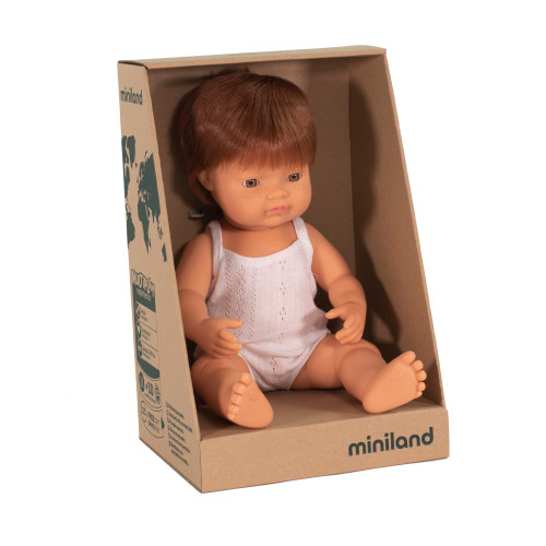 Miniland Caucasian Boy Red Hair 38cm