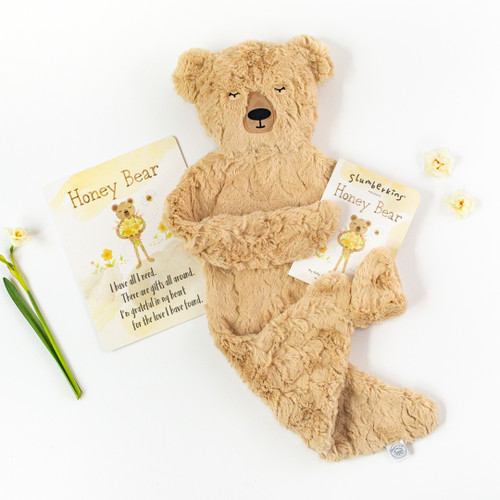 Slumberkins Honey Bear Snuggler Bundle