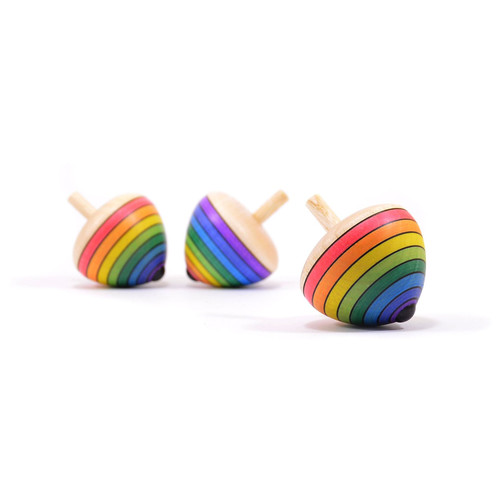 Mader Rainbow Egg Spinning Top