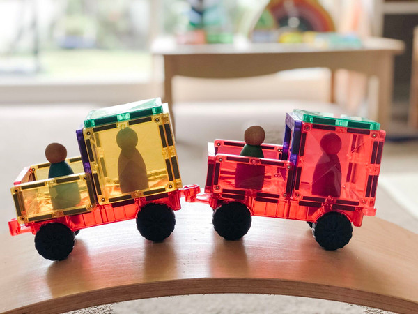 Connetix Magnetic Building Tile Car Pack