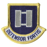 Defensor Fortis flash patch with Captain rank for Security Forces beret