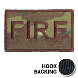 USAF Spice Brown Multicam OCP FIRE Duty Identifier Tab Patch