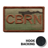 USAF Spice Brown Multicam OCP CBRN Duty Identifier Tab Patch