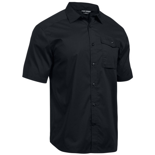 UA Tactical Button-Down - Black - Front
