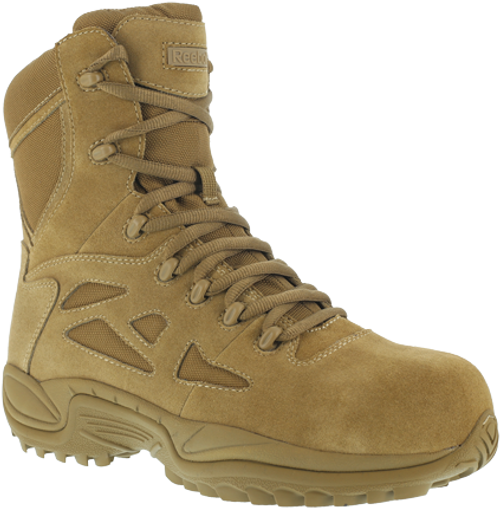 Reebok Rapid Response RB8850 Comp Toe Side Zip Boot in Coyote