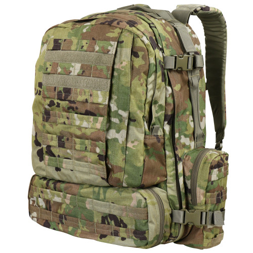 Front detail view of Scorpion OCP CONDOR Tactical 3-Day Assault Pack