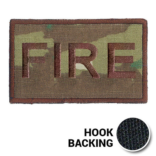 USAF Spice Brown Multicam OCP FIRE Duty Identifier Tab Patch