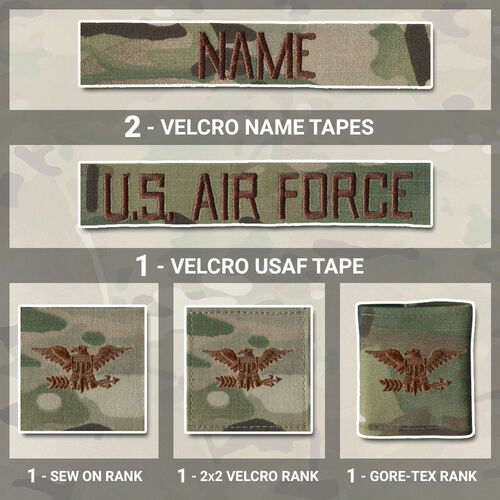 OCP Multicam Name Tape and rank uniform bundle from Kel-Lac
