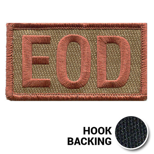 Embroidered Duty Identifier Tab - EOD - OCP (w/ Hook Back)