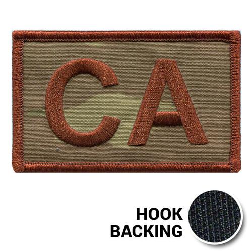 USAF Spice Brown Multicam OCP CA Duty Identifier Tab Patch