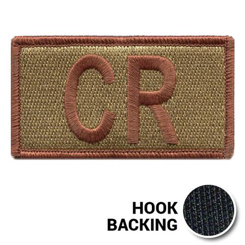 Embroidered Duty Identifier Tab - CR - OCP (w/ Hook Back)