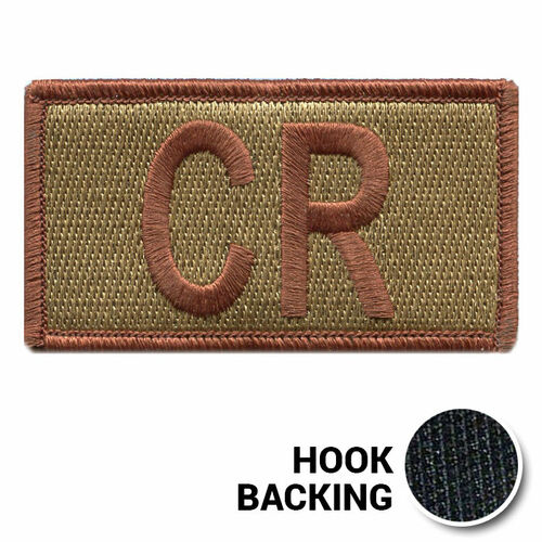 Embroidered Duty Identifier Tab - CR - OCP, Bagby + Spice Brown Border (w/ Hook Back)