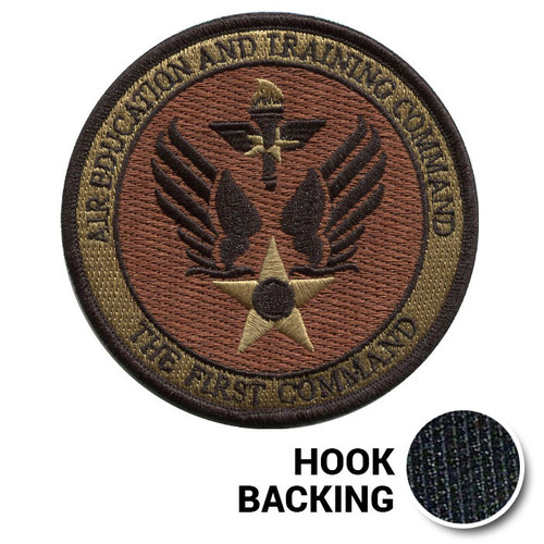 AETC First Command Patch - OCP (w/ Hook Back)