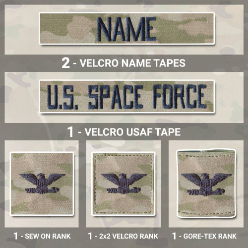 3-Color OCP Name Tape and rank uniform bundle from Kel-Lac