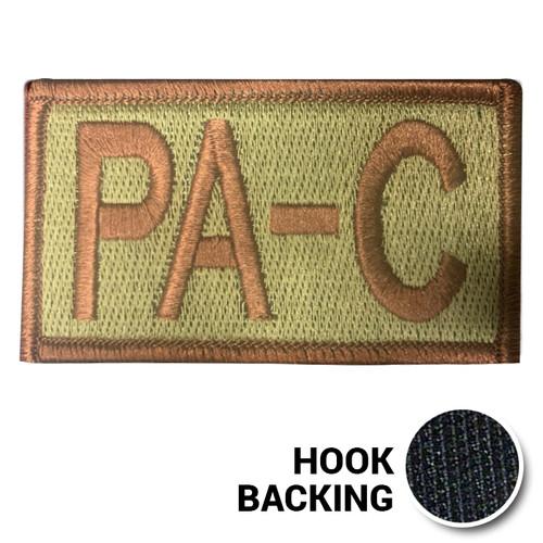 Embroidered Duty Identifier Tab - PA-C - OCP (w/ Hook Back)