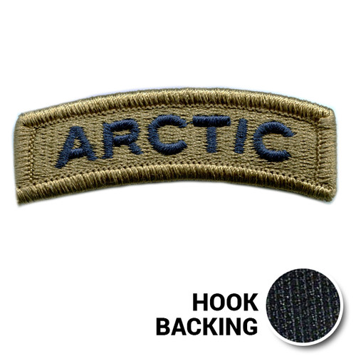 Embroidered Tab Patch - ARCTIC - USSF OCP