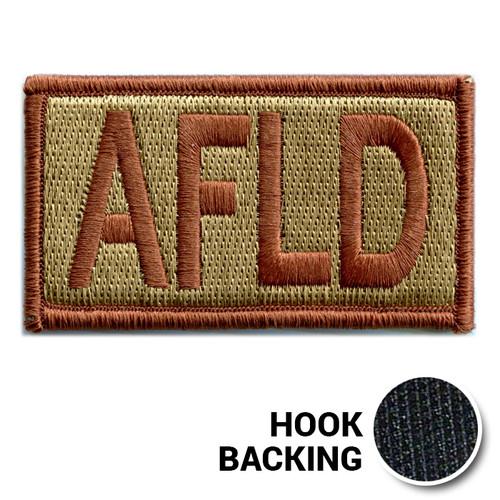 Embroidered Duty Identifier Tab - AFLD - OCP (w/ Hook Back)