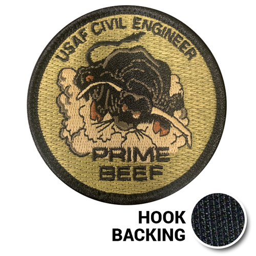 Prime Beef Patch, Embroidered - OCP (w/ Hook Back)