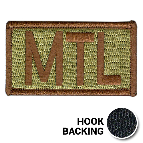 Embroidered Duty Identifier Tab - MTL - OCP, Bagby + Spice Brown Border (w/ Hook Back)
