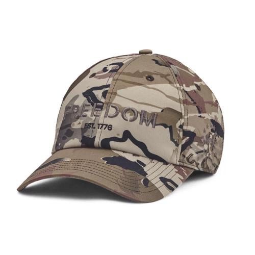 Front of UA Freedom Fury Hat - Barren Camo / Charcoal - 999