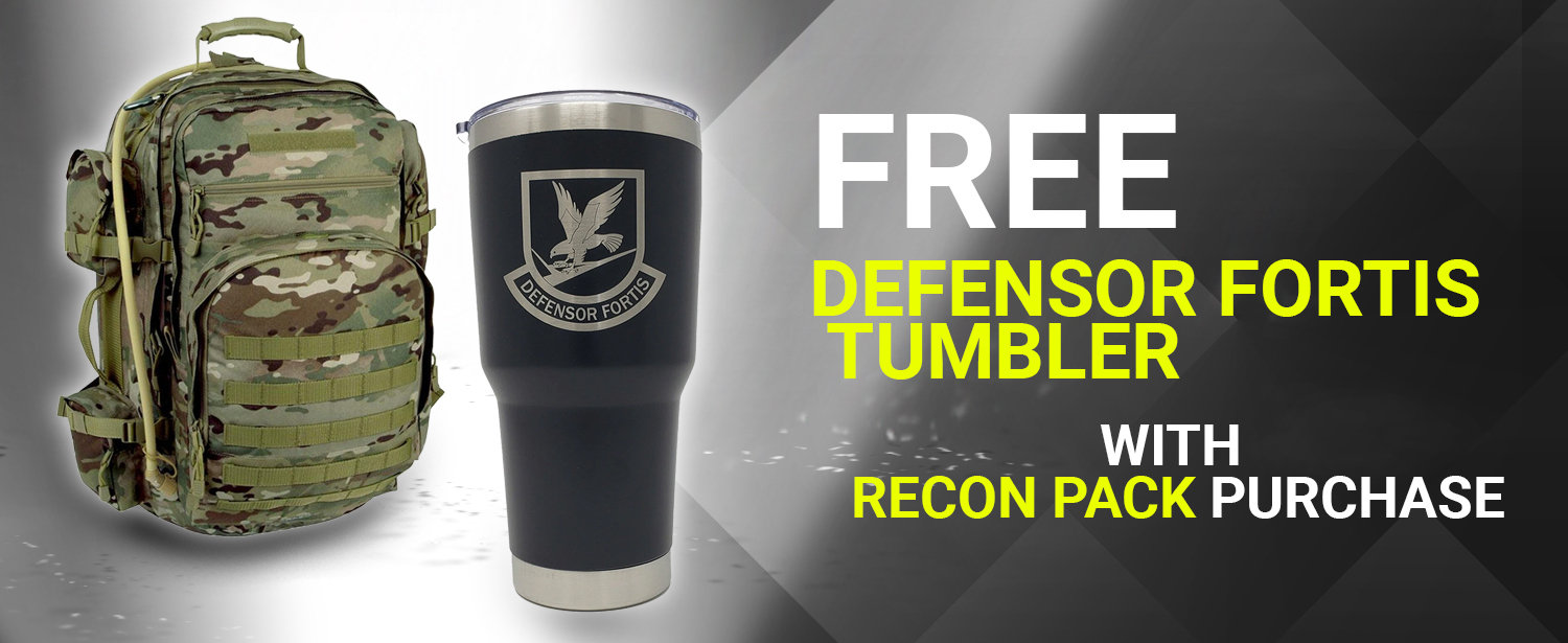 Buy a Recon Pack, get a DF Tumbler Free!