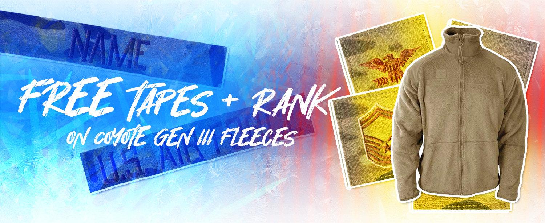 Free Tapes & Rank - Gen III Fleeces